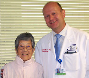 Toshiko Linton and her surgeon, Stefan G. Tullius, MD, PhD.