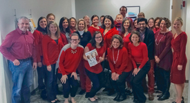 BWH Participates in National Wear Red Day